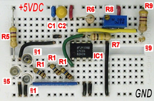 Sensing Color With a LED and Op Amp