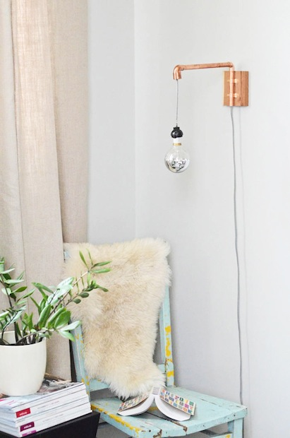 How-To: Copper Pipe Wall Lamp
