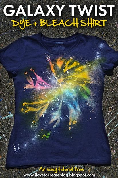 How-To: Galaxy Twist Bleach and Tie Dye Shirt