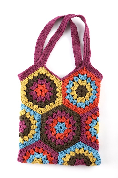 How-To: Crocheted Hexagon Market Bag