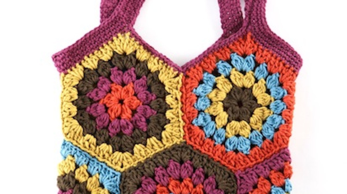 How-To: Crocheted Hexagon Market Bag