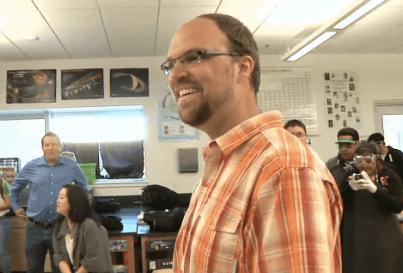 """Aaron Vanderwerff Named """"Inspirational Teacher of the Year"""""""