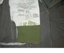 How to sew a hidden pocket in a pair of pants or shorts. Great for hiding credit cards or cash. Link: How to Make an Easy Hidden Pocket[Instructables]