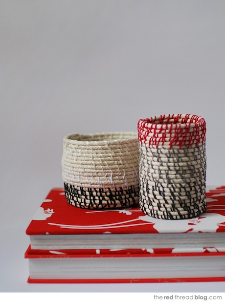 How-To: Colorful Rope Coil Vessels