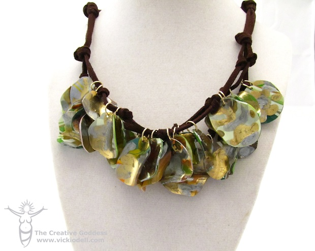 How-To: Recycled Gift Card Necklace