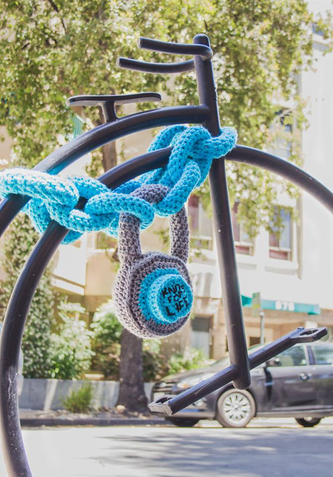 Bike Lock Yarn Bomb