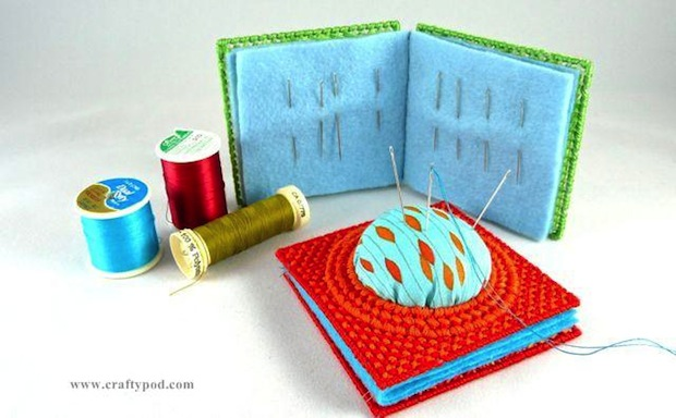 How-To: Plastic Canvas Needle Book Pincushion