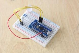 The Arduino-mini sized BLEduino is breadboard compatible.