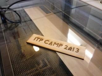 Laser cut tag
