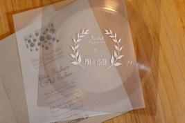 "Vinyl ""flexi"" record wedding invitation."
