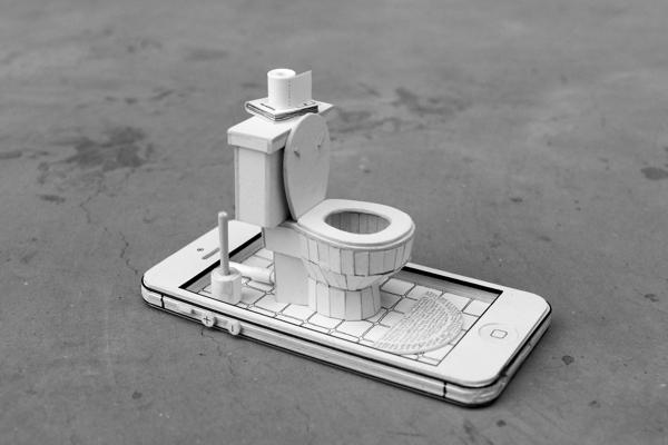 Papercraft Dioramas Inside Papercraft Electronics