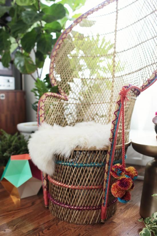 DIY Peacock Chair