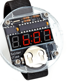 Solder:Time Watch Kit$35. With readouts that harken back to the DeLorean from Back to the Future, this is a great kit to get you and your dad started with soldering this Father's Day. Then after you've built it together, he'll have this cool watch to wear. The watch is entirely hackable, and so makes a great gift for both novice and experienced makers.--Alasdair Allan.