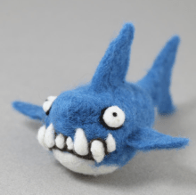 Needle Felting Shark Kit $24.Needle felting transforms hunks of wool into a shape of your own choosing. This Woolbuddy kit provides tools and materials necessary to make one adorable shark. Pick up two kits and felt to your heart's content.--Laura Cochrane.