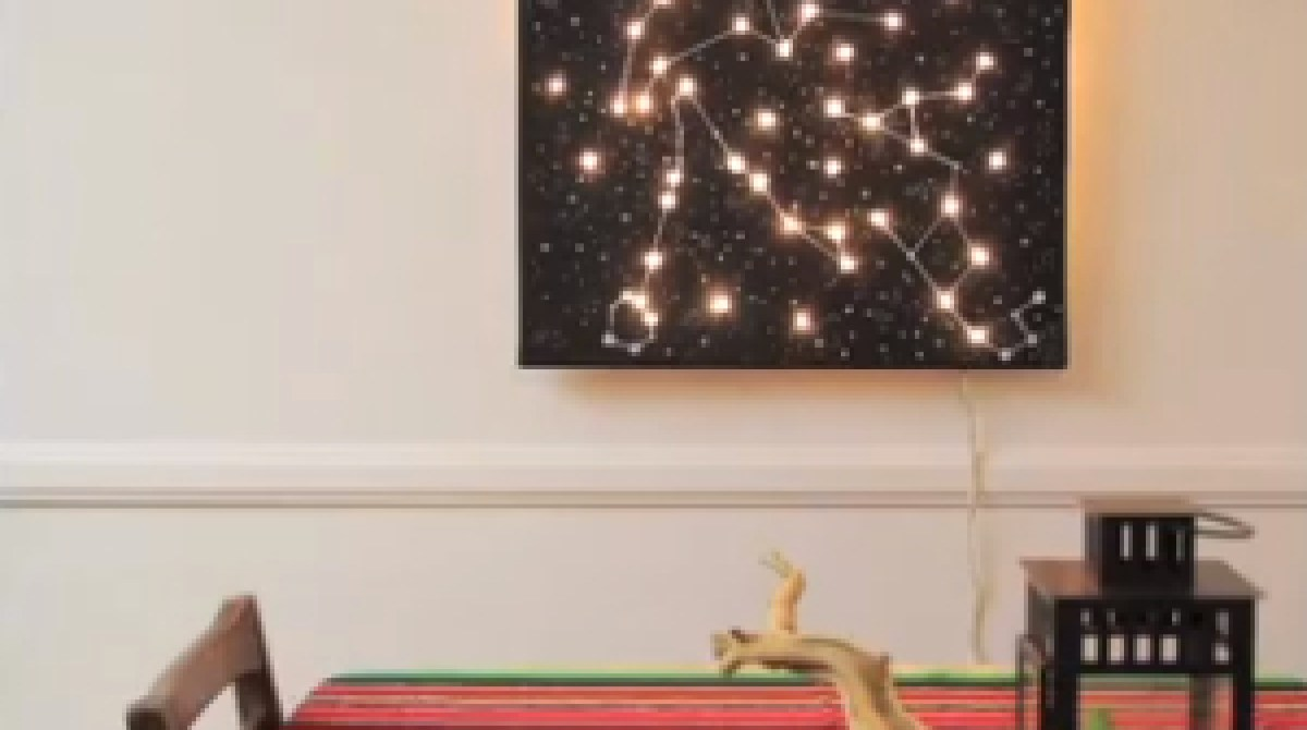Starry Night Canvas Light