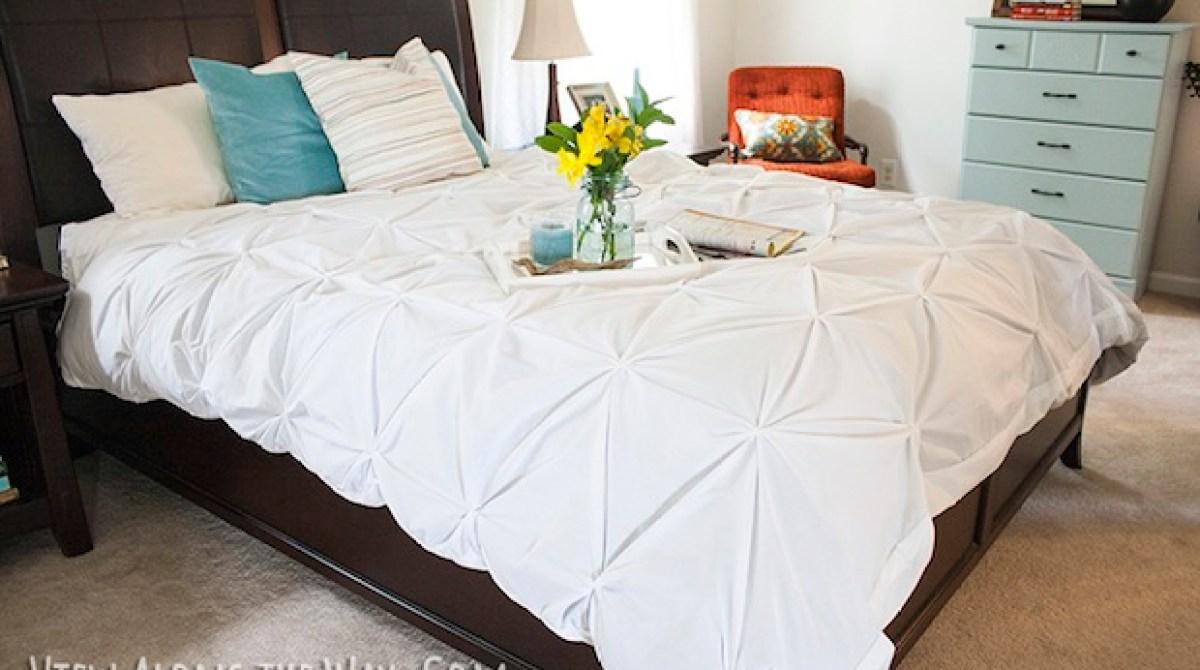 How-To: DIY Pintuck Duvet Cover