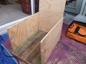 End of day one. All that's left to do is cut the curves and screw in the plexiglass.