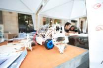 Roman Nuéz robots built with the Multiplo kit.