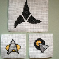 Jules's Star Trek cross stitch. Favors from the wedding. Photo: Jenny Williams