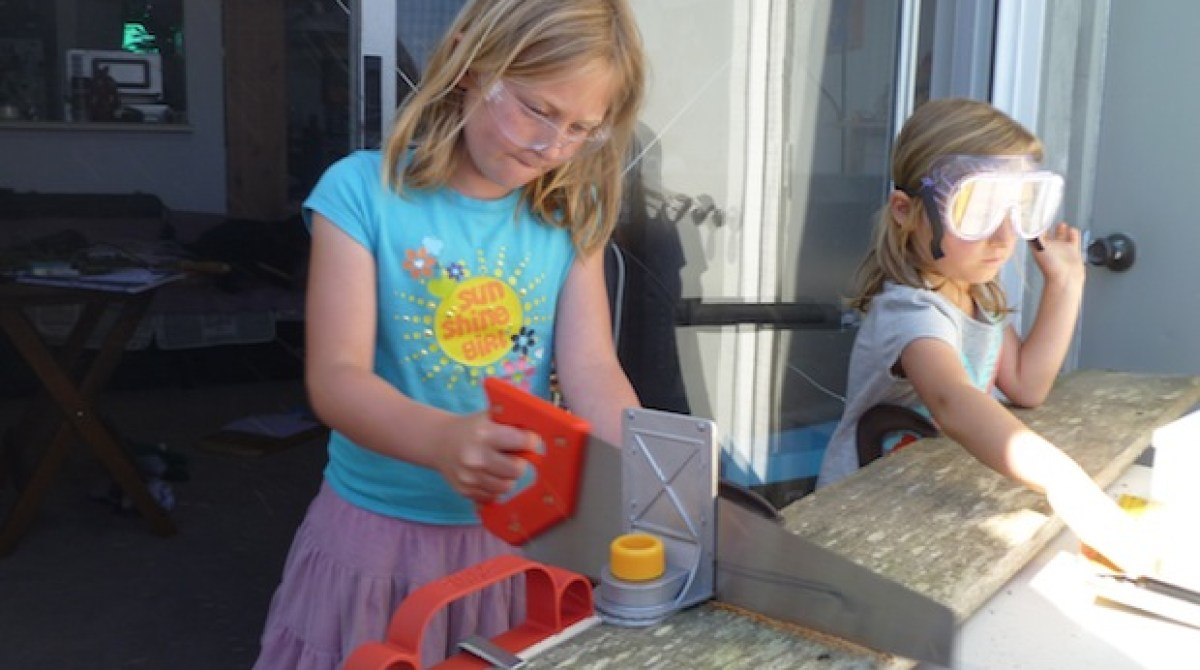 Children Get into Carpentry with ToolKid