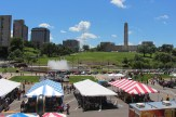 The Mini Maker Faire took advantage of the great weather, too.