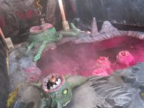 Dave Dalton, proprietor of Hammerspace, pulled off this amazing, Lovecraft-tribute crane game complete with fog, joystick control, and fabulous Cannabalistic Cave Polyps.