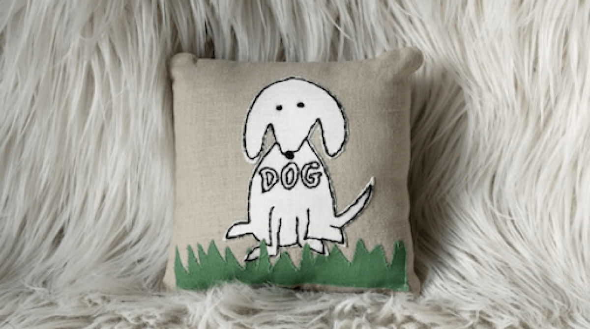 How-To: Appliquéd Dog Pillow