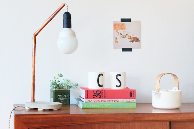 How-To: Copper and Cement Desk Lamp