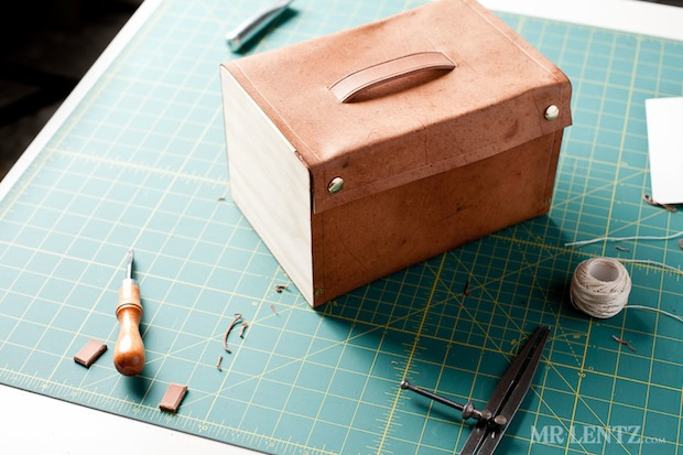 How-To: Leather and Wood Lunchbox