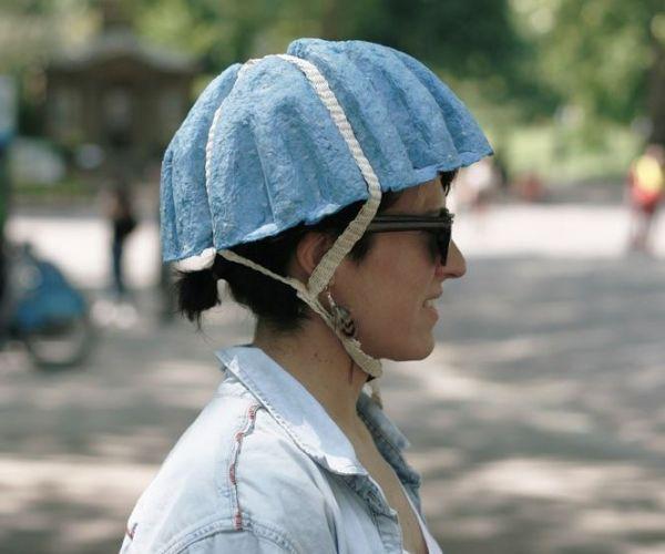 Paper Pulp Bike Helmet