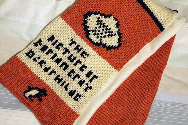 Knitted Penguin Books Scarf