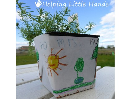 Wrap a Plant — fun for kids! Let them pick out a plant and then decorate the wrapper for the pot.