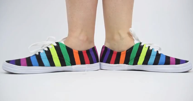 DIY Rainbow Shoes