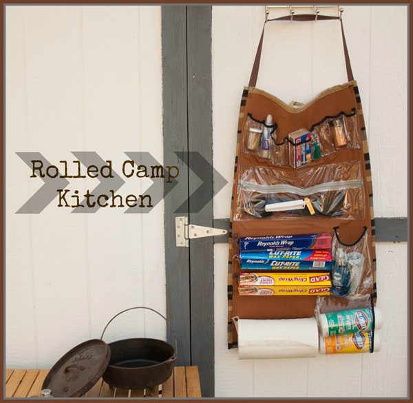 How-To: Rolled Camping Kitchen Organizer