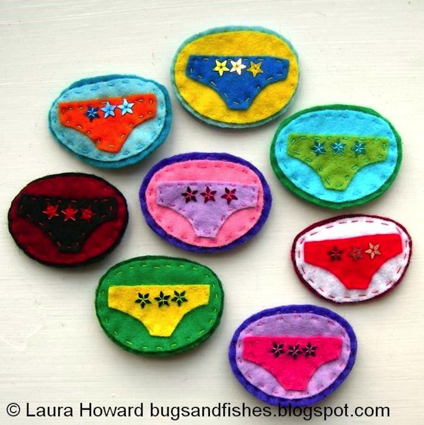 How-To: Lucky Underpants Badge