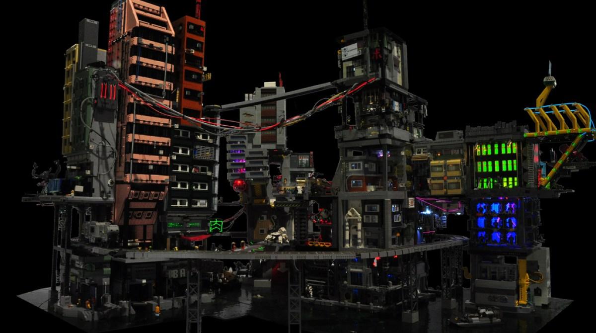 Cyber City A Modular Lego Cyberpunk Diorama Make