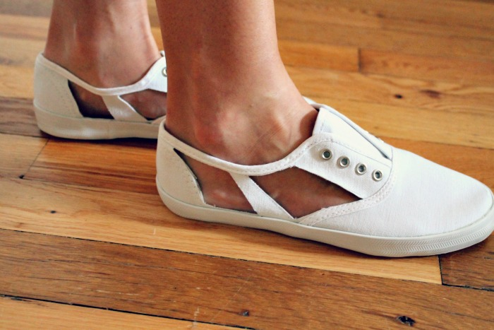 How-To: DIY Cutout Shoes