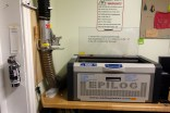 Membership to AS220 Labs also grants users access to this Epilog laser.