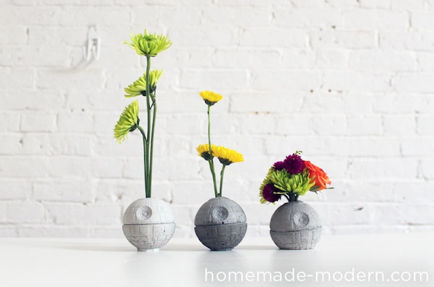 How-To: Concrete Death Star Vases
