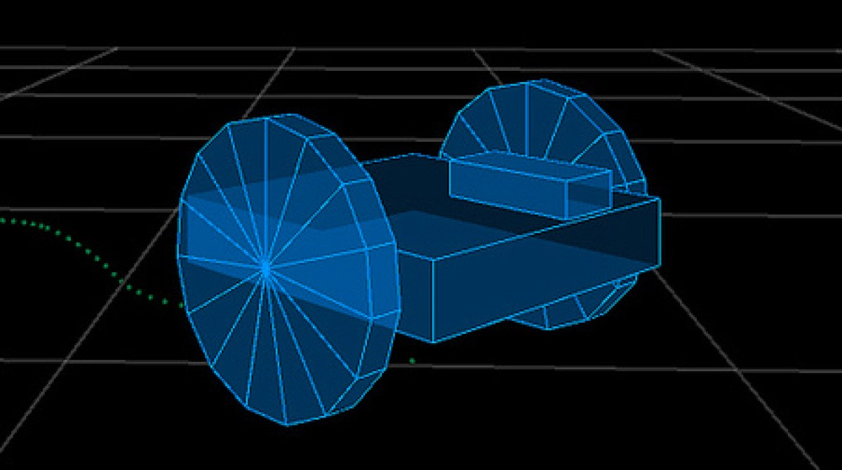 Differential Drive Simulator Plots the Path of a Robot