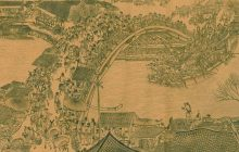 This hand scroll by artist Zhang Zeduan from about the year 1000 served as the design inspiration for the bridge the students built.