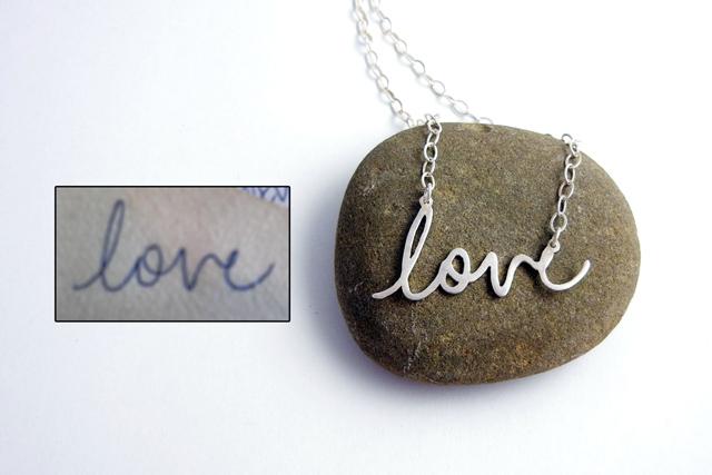 Custom Hanwriting Jewelery