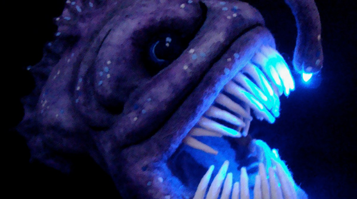 Needle Felted Light Up Angler Fish Sculpture | Make: for Anglerfish Light  181obs