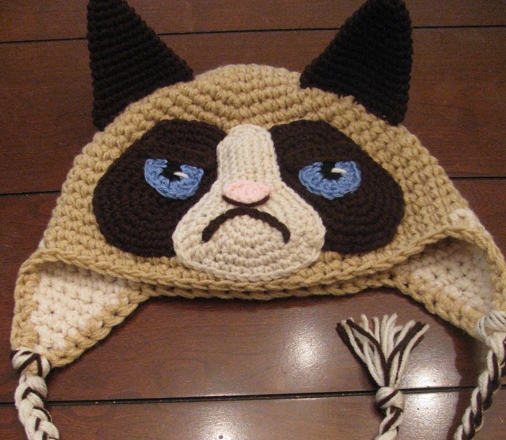 Grumpy Cat Crochet Hat Pattern