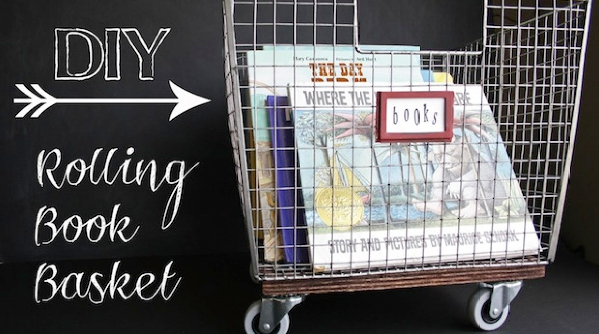 How-To: Rolling Book Storage Basket