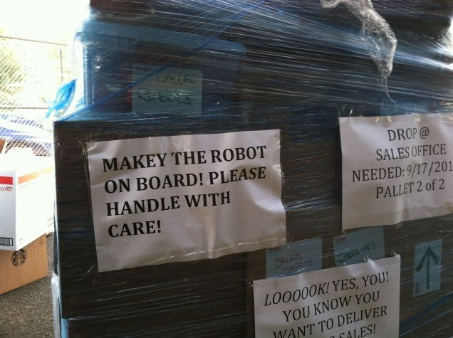 Maker Faire wouldn't be complete without Makey, Maker Faire and MAKE's robot mascot. For now he's under wraps.