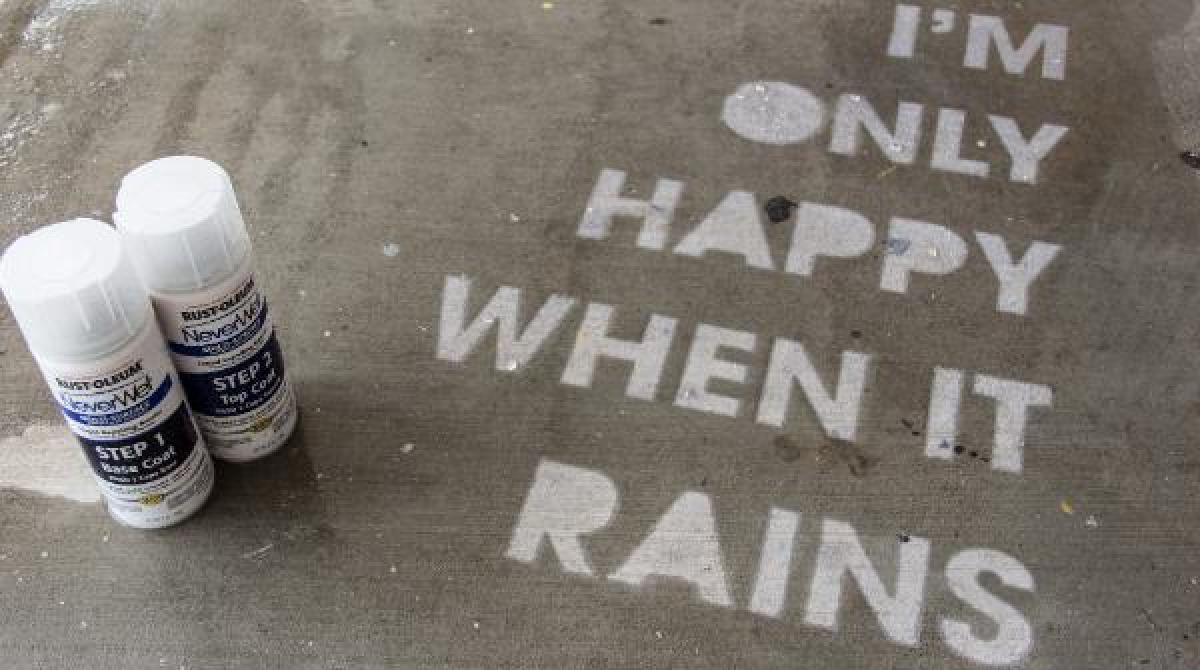 How-To: Rust-Oleum NeverWet Sidewalk Art