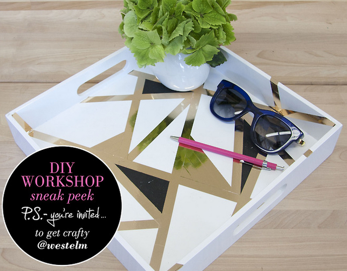 Geometric Lacquered Tray