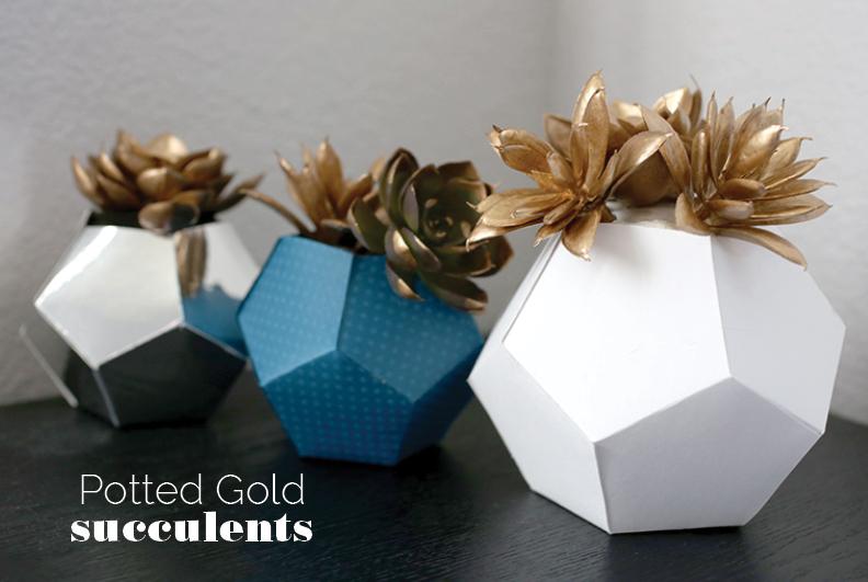 Geometric Origami Planters