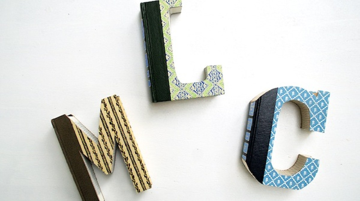 How-To: DIY Book Letters